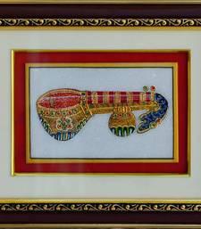 Buy eCraftIndia Marble Painting of Vichitra Veena wall-art online