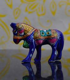 Buy eCraftIndia Meenakari Metallic  Colorful Horse other-home-accessory online