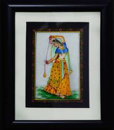 Buy eCraftIndia Dancing Ragini Marble Painting (Wooden Framed) wall-art online
