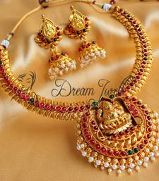 Buy BEAUTIFUL KEMP LAKSHMI NECKLACE SET necklace-set online