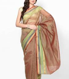 Buy Cotton supernet fancy border saree supernet-saree online