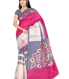Buy Multicolor printed bhagalpuri silk saree  printed-saree online