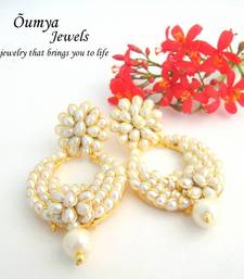 Buy White Paachi Indian Style Fashion Earrings stud online
