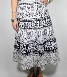 Buy Desi print wrap around midi skirt skirt online