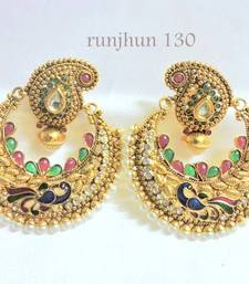 Buy trendy peacock polki danglers danglers-drop online