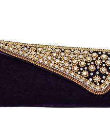 Buy Stylish Embellishment Decorative Clutch in Purple clutch online