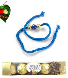 Buy Medium Combo Kundan Work Rakhi  Pack  rakhi-with-chocolate online