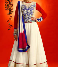 Buy Melodic off wight & read Anarkali Salwar Suit anarkali-salwar-kameez online