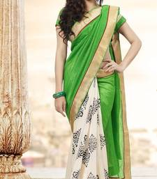 Buy Strollay Saree with Un-Stitched Blouse printed-saree online