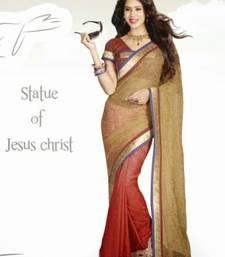Buy Fashionic Multicolor Color Tissue & crep Saree SNLS2424 crepe-saree online