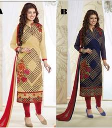Buy Multicolor embroidered georgette unstitched salwar with dupatta salwar-combo online