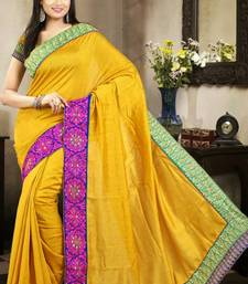 Buy Sophisticated Yellow Color Bhagalpuri Silk Saree with Blouse bhagalpuri-silk-saree online