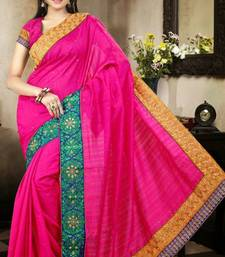 Buy Amazing Magenta Color Bhagalpuri Silk Saree with Blouse bhagalpuri-silk-saree online