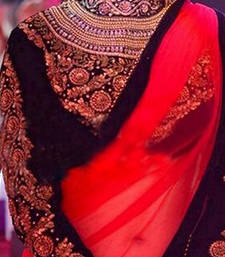 Buy NIKITA PATEL RED SAREE other-actress-saree online