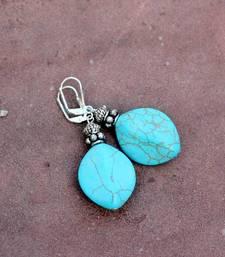 Buy Color Me Turquoise Earrings danglers-drop online