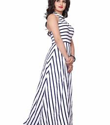 Buy Black  and  white printed american crepe dress evening-wear-dress online