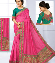 Buy Baby pink hand woven jute saree with blouse jute-saree online