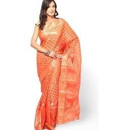 Buy Pure cotton supernet banarasi fancy zariwork saree banarasi-saree online