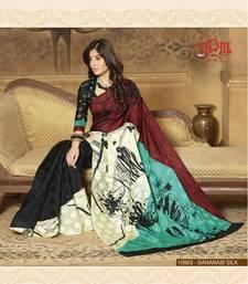 Buy Multi Color Styloce Designer Bhagalpuri Saree bhagalpuri-silk-saree online