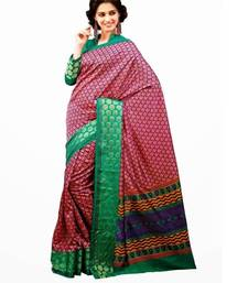 Buy Aria printed purple raw silk saree 2353 tussar-silk-saree online
