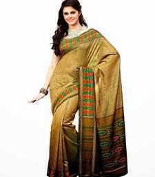 Buy Aria printed golden raw silk saree 2366 tussar-silk-saree online