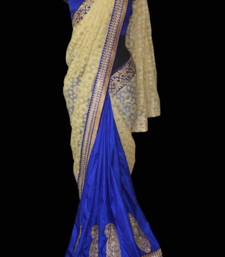Buy Paisley applique silk-saree online