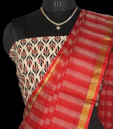 Buy striped red doria kota-silk-saree online