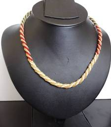 Buy Golden Chain with Multi Color Beads Necklace online
