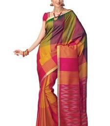 Buy Multi-Colour Handloom Silk Saree with Zari Work - SR2606 silk-saree online