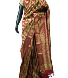 Buy Golden Pure Kanchipuram Silk Saree for Wedding with Heavy Body - SR4224 printed-saree online