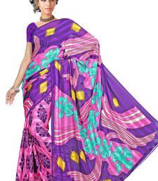 Buy Saraswati Print satin patti saree printed-saree online