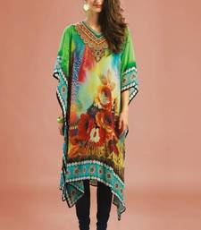 Buy Multi Colour Georgette Digital Printed Kaftan kaftan online