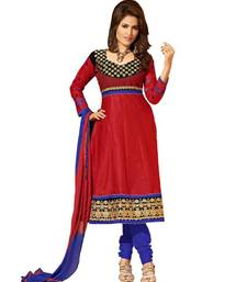 Buy Riti Riwaz red cotton  anarkali suit with dupatta anarkali-salwar-kameez online