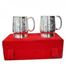 Buy silver plated beer mug decorative plates eid-gift online