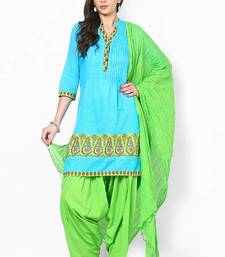 Buy Parrot Green Solid Patiala Salwar With Dupatta - PAT3 punjabi-suit online