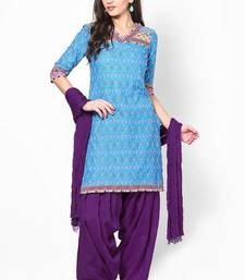 Buy Purple Solid Patiala Salwar With Dupatta - PAT11 punjabi-suit online
