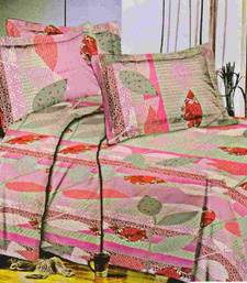 Buy Aria 100% cotton double mauve printed bedsheet  1118f bed-sheet online