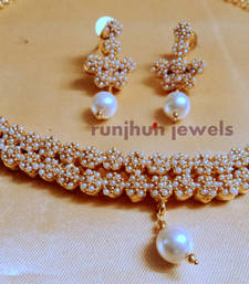 Buy royal pearl polki necklace necklace-set online