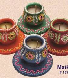 Buy Handmade earthen Matki Diya set of 4  - 157rp diya online