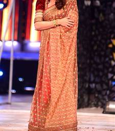 Buy Madhuri Dixit In Chiku net Saree madhuri-dixit-saree online