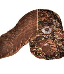 Buy Jaipuri Floral Single Bed Golden Velvet Quilt bed-sheet online