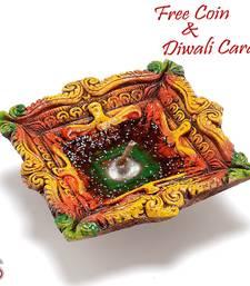 Buy Gel filled Earthen Diwali diya diwali-decoration online