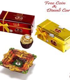 Diwali chocolates gifts Cherir 04 pc set with Terracota Diya shop online