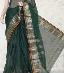 Buy Designer Bengal Handloom Tant Cotton Saree (Without Blouse) cotton-saree online