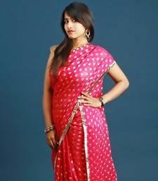 Buy Pink & Yellow Saree georgette-saree online
