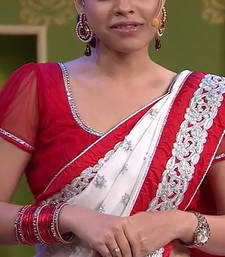 Buy SUMONA WHITE SAREE other-actress-saree online