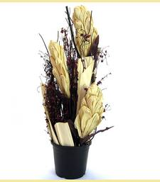 Buy Beautiful Acrylic Vase Dried Accessory Arrangement artificial-flower online