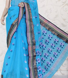 Buy Bengal Handloom Tant Cotton Saree (Without Blouse) cotton-saree online
