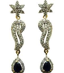 Buy Vatika beautiful blue american diamond earring danglers-drop online