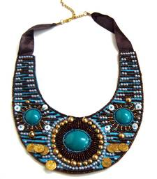 Buy Embroidered Ladakh Necklace Necklace online